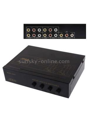 HEGUANGWEI 4-Way Video & Audio AMP Splitter with Switch, 4 Inputs, 1 Output (JM-VA401) for Sale in Chicago, IL