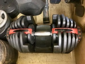 One Brand New Adjustable Dumbbell. 10 to 90 lbs. for Sale in Norfolk, VA