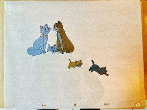 Vintage Disney animation cel. The Aristocats family production cel. Very nice large images for Sale in HUNTINGTN BCH, CA