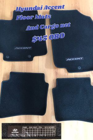 Hyundai Accent Floor Mats & Cargo Net Genuine (2012 - 2017) from a 2014 Accent for Sale in Santa Ana, CA