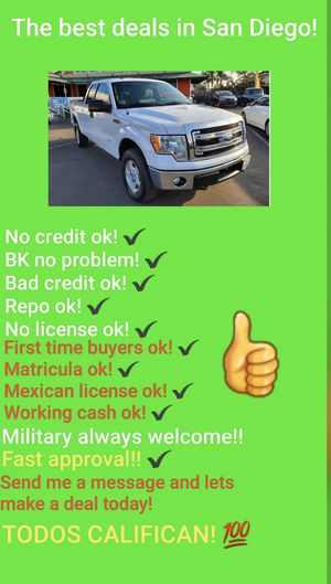 2014 FORD F150 4X4 ECOBOOST! MESSAGE ME NOW! for Sale in San Diego , CA