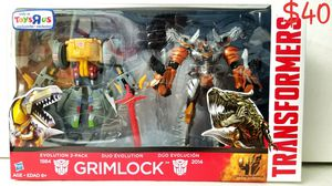 GRIMLOCK EVOLUTION 2-pack Transformers Voyager class Hasbro action figure Toys R Us exclusive NEW for Sale in West Covina, CA