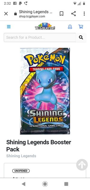 Pokemon Shining Legends New + Sealed Booster Packs GREAT GIFT! for Sale in San Diego, CA