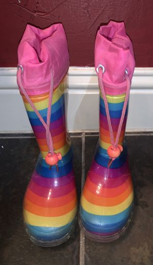 Kid Rain boots size 11 youth girls like new for Sale in Fort Worth, TX