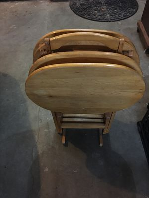 Wood TV trays for Sale in Gig Harbor, WA