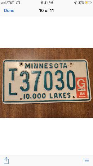 1981 Vintage Minnesota plates for Sale in Nashville, TN
