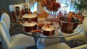 Copper pots, storage containers, cups, strainer, baskets for Sale in North Las Vegas, NV