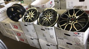 BRAND NEW 15 INCH WHEELS AND TIRES FOR SALE STARTING PRICE $650 AND UP for Sale in Joint Base Lewis-McChord, WA