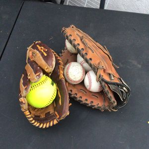 Baseball Gloves And Balls for Sale in La Palma, CA