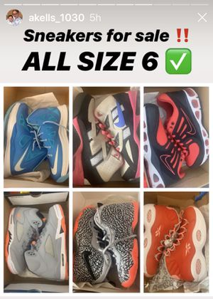 Nike and Jordan's most brand new some worn 1x $80.00 per pair for Sale in Mount Laurel Township, NJ