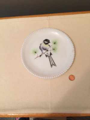 Vintage Beaded Milk Glass Plate for Sale in Decatur, GA