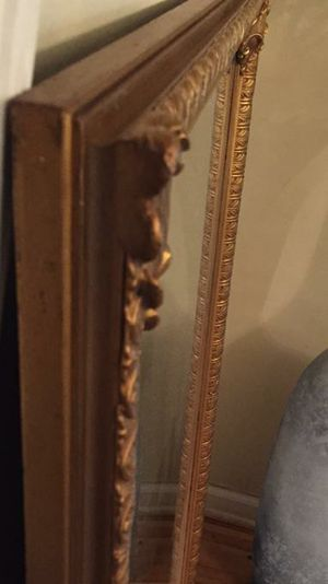 Antique gold frame wood mirror for Sale in Orland Park, IL