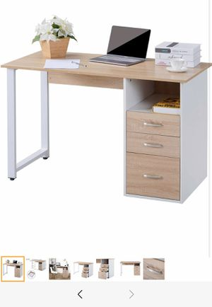 Simple Design Computer Desk Table Workstation with Cabinet and Drawers for Sale in Lawrence Township, NJ