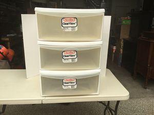 3 Sterlite plastic drawers for Sale in Mukilteo, WA