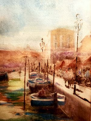 """Local art. """"Venice by boat"""". Watercolor. for Sale in Coeur d'Alene, ID"""