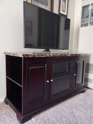 Faux Marble TV Stand/Media Console for Sale in Bremerton, WA