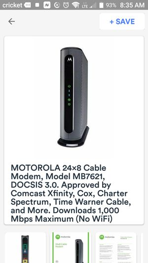 Motorola cable modem supports xfinity for Sale in Nashville, TN