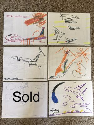 Hand drawn/painted helicopters, airplanes, ships for Sale in Pacific, WA