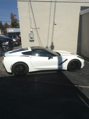 2016 Chevrolet Chevy Corvette 9k white, black leather interior for Sale in Fitchburg, MA