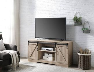 RUSTIC BARN DOOR RAIL TV STAND CABINET STORAGE / GABETA MUEBLES MESA for Sale in Downey,  CA