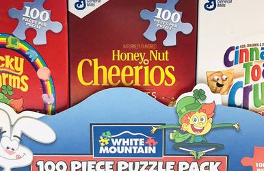 White Mountain Puzzles Mini Cereal Boxes Puzzle Pack for Sale in Providence,  RI