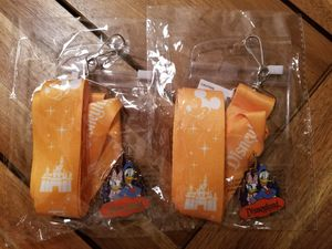 Disney Land 2 Badge Holders with 2 Pins for Sale in SeaTac, WA