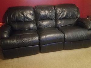 Double Recliner Sofa (Black) for Sale in Orlando, FL