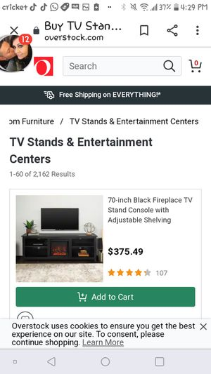 Walker Edison 70' tv stand black still in box for Sale in Draper, UT