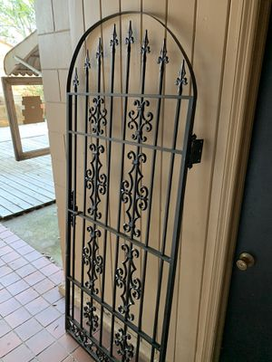 BLACK ORNATE IRON GATE WITH LATCH for Sale in Sanford, FL