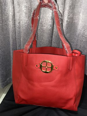 Red & Gold Iman Tote for Sale in Scarsdale, NY
