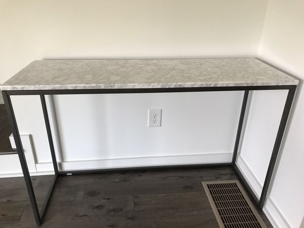 Marble top console table!