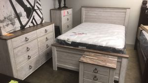 New Queen Whitewash Bed 🔥🔥 AVAILABLE NOW for Sale in Virginia Beach, VA