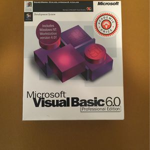 MS Visual Basic 6.0 Professional Edition for Sale in Warren, MI