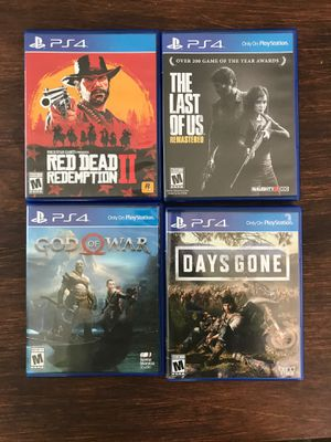 PS4 games. $50 for all 4 or $15 for each for Sale in Royal Oak, MI