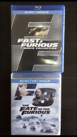 Fast and furious blu ray set all 8 movies Blu-ray all for $35, Disney Marvel DC Harry Potter the Star Wars movies Bluray and dvd collectors for Sale in Everett,  WA