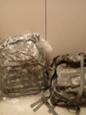 REINFORCED Military Backpack W/matching duffel bag for Sale in Canton, OH