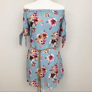 Haute Monde Off Shoulder Floral Tunic Dress for Sale in North Las Vegas, NV