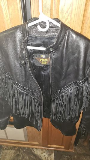 leather riding jacket for Sale in New Boston, IL