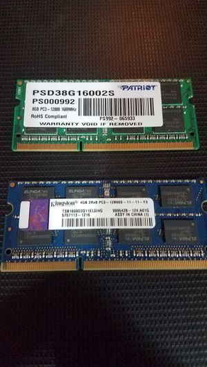 8GB & 4GB memory for laptop for Sale in Carson, CA