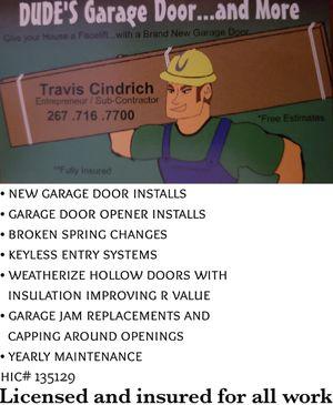 Dude's Garage Doors for Sale in Audubon, PA