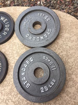 A Pair of 25 Ibs Olympic Weight Plates Very Nice for Sale in Chandler, AZ