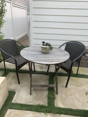 Pottery Barn Chesapeake Outdoor Foldable Table & Chairs for Sale in Manhattan Beach, CA