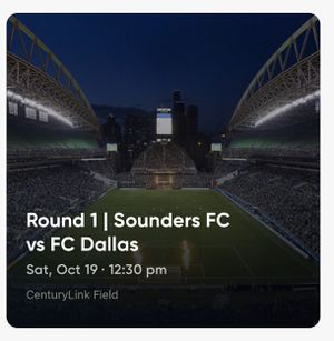 1 tickets sounders vs FC Dallas round 1 oct 19th for Sale in Bellevue, WA