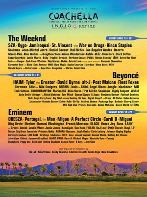 BRAND NEW 2018 Coachella Lineup Poster for Sale in Los Angeles, CA