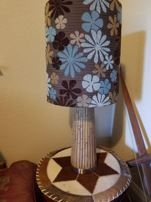 Vintage bamboo tiki lamp with cool shade for Sale in Vacaville, CA