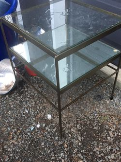 End Table Accent Mirror Glass Top for Sale in Everett,  WA