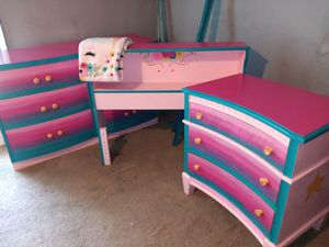 CUSTOM UNICORN KITTY TWIN SIZE BED SET for Sale in Milwaukee, WI