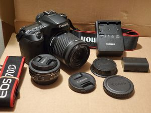 Canon 70D 18-55mm STM and 24mm STM for Sale in Alhambra, CA