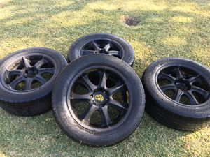 FORTE MATTE BLACK 20 INCH RIMS WITH GOODYEAR EAGLE LS-2 (275/55R20) TIRES SET OF 4 for Sale in Rosemead, CA