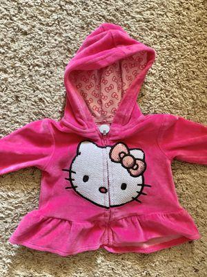 Hello Kitty velour hoodie (0-3) months for Sale in Lorton, VA